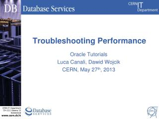 Troubleshooting Performance