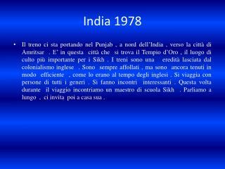 India 1978