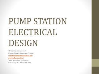 PUMP STATION ELECTRICAL DESIGN