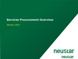 Services Procurement Overview January 2012