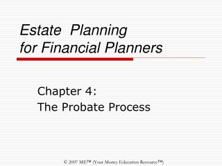 Estate Planning  for Financial Planners