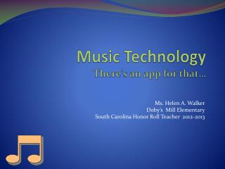 Music  Technology There's an app for that…