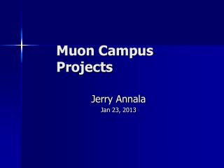 Muon Campus Projects