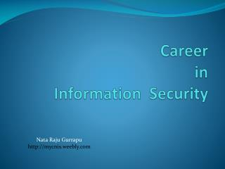 Career  in  Information  Security