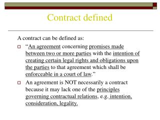 Contract defined
