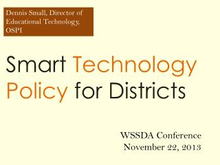 Smart  Technology Policy  for Districts