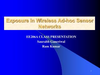 Exposure in Wireless Ad-hoc Sensor Networks