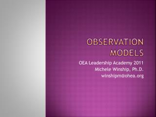 Observation models