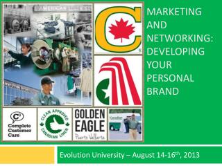 Marketing and networking: Developing Your Personal Brand