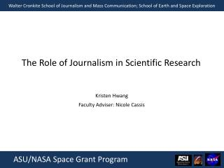 The Role of Journalism in Scientific Research