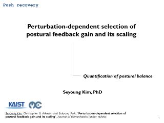 Perturbation-dependent selection of  postural feedback gain and its scaling