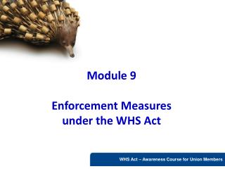 Module 9  Enforcement Measures  under the WHS Act