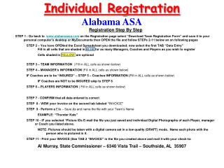 Individual Registration Alabama ASA