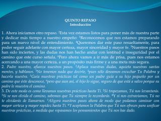 QUINTO REPASO Introducción