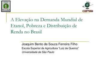 A Elevação na Demanda Mundial de Etanol, Pobreza e Distribuição de Renda no Brasil