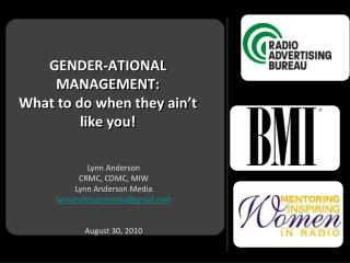 GENDER-ATIONAL MANAGEMENT: What to do when they ain't like you!