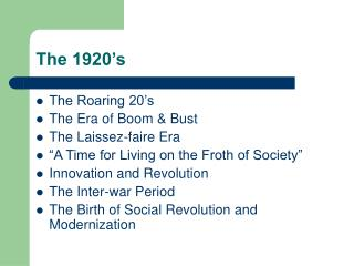 The 1920�s