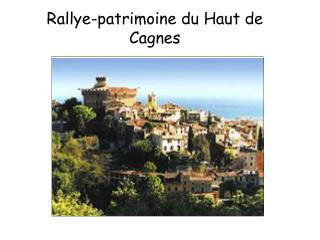 Rallye-patrimoine du Haut de Cagnes