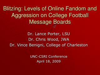 Blitzing: Levels of Online Fandom and Aggression on College Football Message Boards