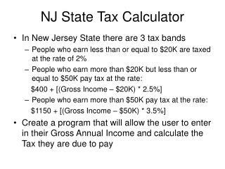 NJ State Tax Calculator