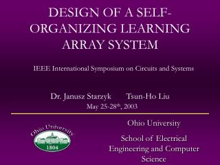 DESIGN OF A SELF-ORGANIZING LEARNING ARRAY SYSTEM