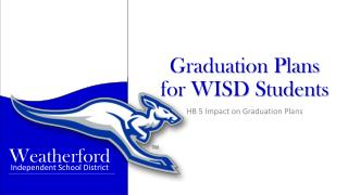 Graduation Plans  for WISD Students