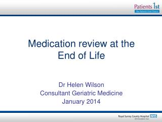 Medication review at the  End of Life