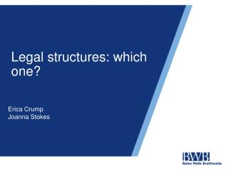 Legal structures: which one?