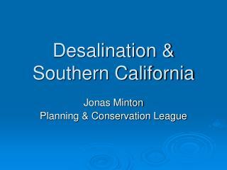 Desalination  Southern California