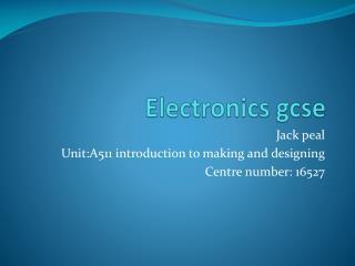 Electronics gcse