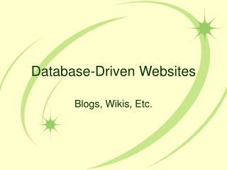 Database-Driven Websites