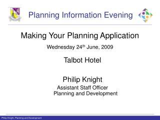 Planning Information Evening