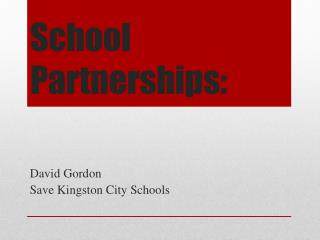 School Partnerships: