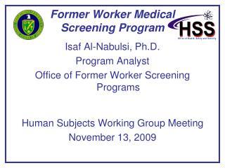Former Worker Medical  Screening Program