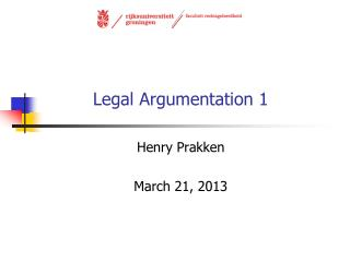 Legal Argumentation 1