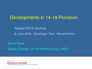 Developments in 14-19 Provision
