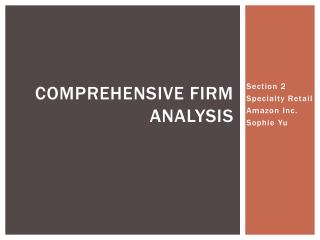 Comprehensive firm analysis