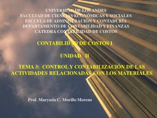 UNIVERIDAD DE LOS ANDES FACULTAD DE CIENCIAS ECONÓMICAS Y SOCIALES