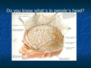 Do you know what ' s in people ' s head?