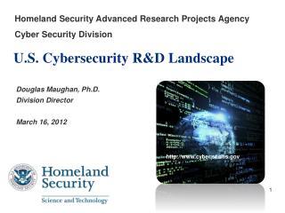 U.S.  Cybersecurity  R&D Landscape