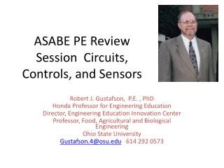 ASABE PE Review Session  Circuits, Controls, and Sensors