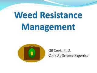 Weed Resistance Management