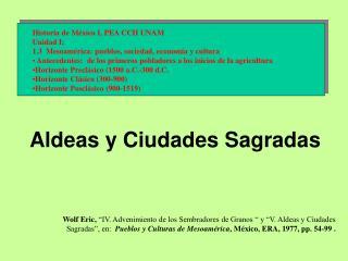 Historia de México I, PEA CCH UNAM  Unidad I: