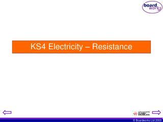 KS4 Electricity – Resistance
