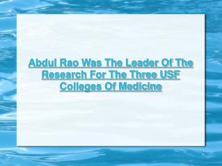 Abdul Rao - USF