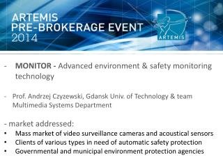 MONITOR -  Advanced environment &  safety  monitoring  technology