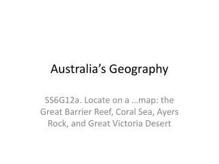 Australia's Geography