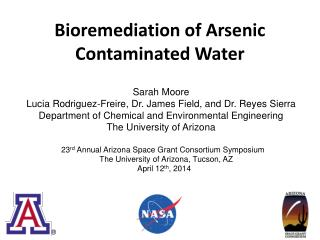 Bioremediation of Arsenic Contaminated Water