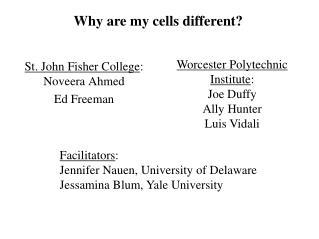 St. John Fisher College :  Noveera Ahmed Ed Freeman