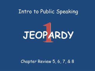 Intro to Public Speaking